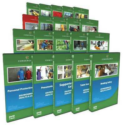 Construction Safety,20 DVD Combo CONVERGENCE TRAINING C-068
