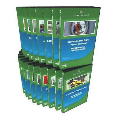 CONVERGENCE TRAINING C-064 Workplace Safety,56 DVD Combo G3891347