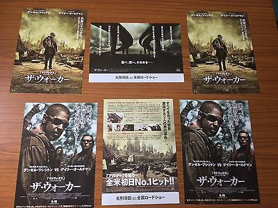 The Book Of Eli - rare set of Japanese chirashi Posters - Denzel Washington