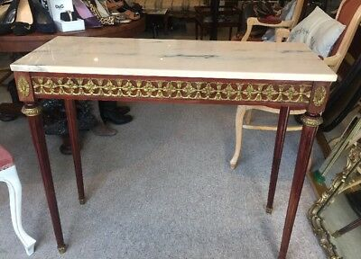 French Empire Style Ormolu Mounted Console/Hall Table Marble Top 19th century