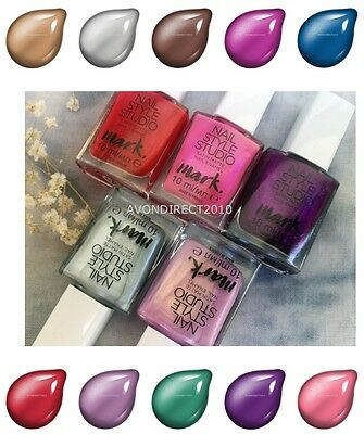 AVON MARK NAIL Style Studio ~ Nail Enamel ~ Satin Matte ~ Pampered ...