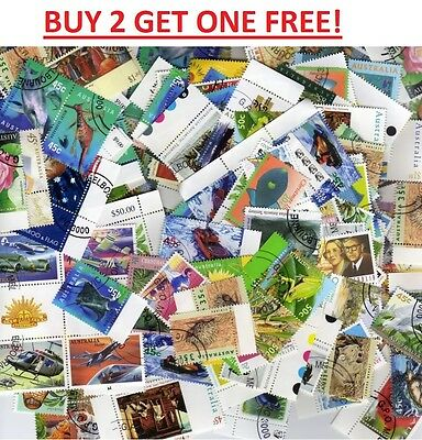 500 Australian Stamps Used   Bulk Collection Off Paper