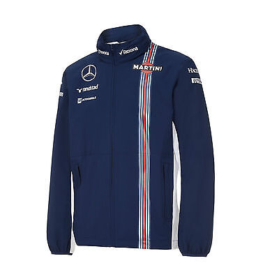 Williams Martini Blue Soft Shell Jacket By Hackett 2016-F1 Gift-Rrp.£149.00