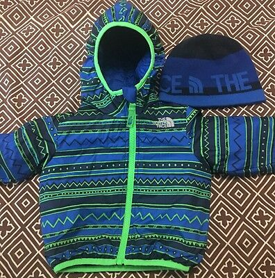 Baby 6-12 Month Boys North Face Reversible Jacket & Hat