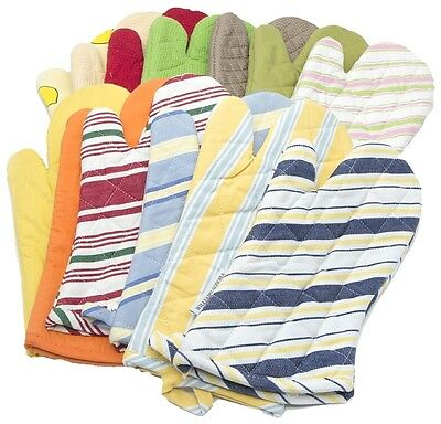 56051 Single Oven Gloves 100% Cotton Kitchen Cooking Baking Mitts Pot Holders