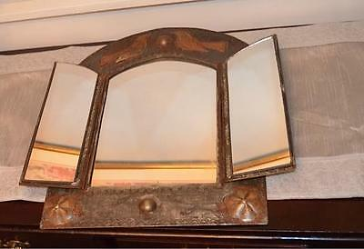 Indian metal 3 panel metal/ tin  mirror
