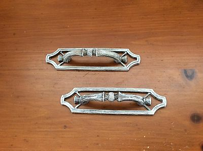 537A VTG French Provincial Pulls White Wash Set Of 2