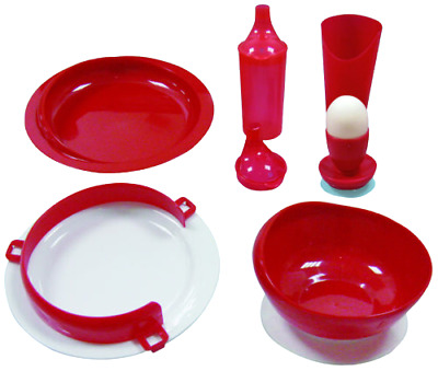 Adult Disability Dining Set - Full Set of Dining Aids And Easy Grip Cutlery.