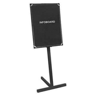 """MASTERVISION SUP1001 Letter Board Stand 18""""x24"""", Black, Aluminum Frame"""