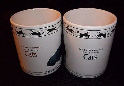 CAT LOVER 2 MUGS Chartreux Turkish Van Brown Mackerel Tabby Siberian Abyssinian