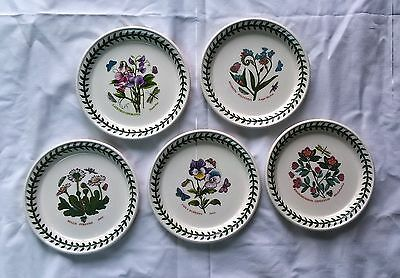 "PORTMEIRION BOTANIC GARDEN 5"" 15cm SIDE BREAD & BUTTER CAKE SANDWICH PLATES NEW"