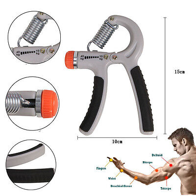 10-40kg Hand Grip Strengthener Quickly Increase Hand Wrist Forearm Strength Gray