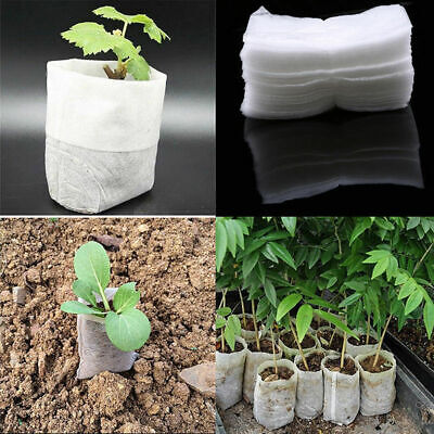 100pcs Pack Garden Nursery Germinate Grow Seed Seeding Pouch Raising Bag Fabrics