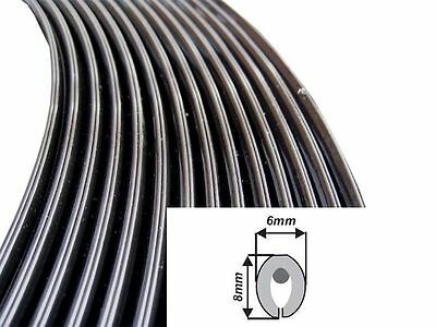 8M Black Matte Moulding Trim Car Door Edge Guard Strip Molding Protector U S New