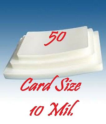 Card Size 10 Mil 50 PACK Laminating Laminator Pouches Sheets 2-5/8 x 3-7/8