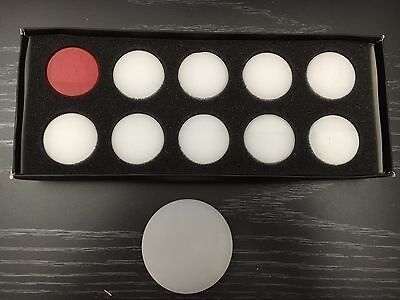 Black Ash Acrylic plastic Carrom Coins Set of 20 pieces 9 mm with striker