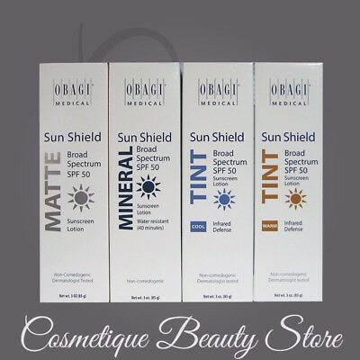 Obagi Sun Shield SPF 50 DROPDOWN  LISTING Matte, Mineral, Cool,OR Warm Tint 3 oz