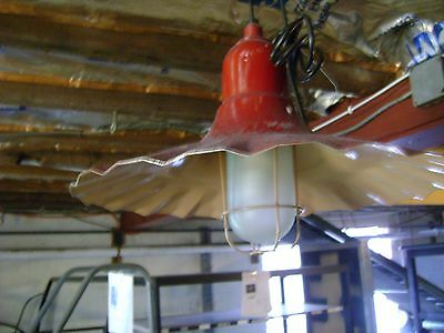 Warehouse Farmhouse Barn Red Metal Industrial Ceiling Hanging Light Fixture