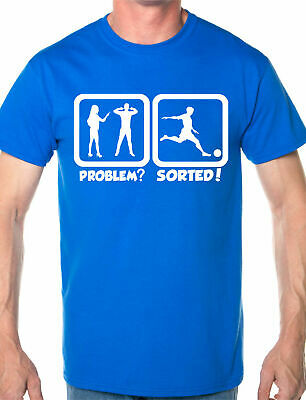 Problem Sorted Play Tennis Hobby Funny Mens T Shirt Size S-XXL