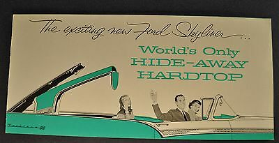 1957 Ford Skyliner Retractable Fairlane Brochure Excellent Orig 57 Not A Reprint