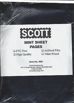 Package of 25 MS-1 SCOTT Mint Sheet Pages for SCOTT or Supersafe Binders