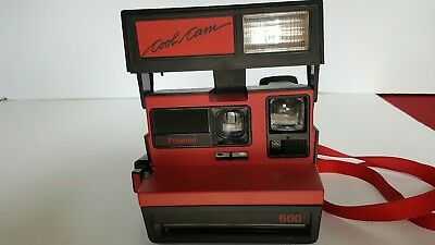 Vintage Polaroid 600 Cool Cam instant land camera with flash