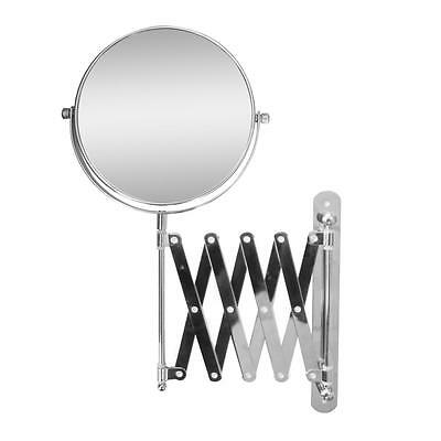 Extendable Dual Sided Wall Mount Bath Magnifying Makeup Mirror, Chrome