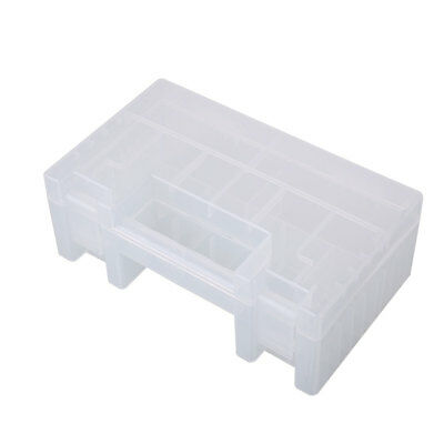Battery Storage Box Transparent Plastic Holder Clear Clean Tool Electronic