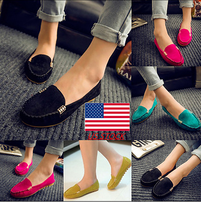 Womens Leather Flats Slip On Shallow Driving Loafers Casual Moccasin  Tods Shoe