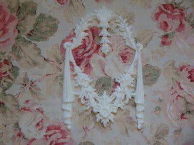 New! Shabby Chic Floral Acanthus Leaf Center Furniture Applique Architectural