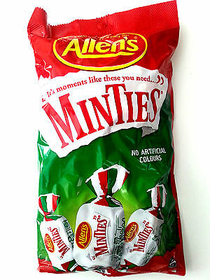 Allen's Minties Individually Warpped Lollies - 1kg