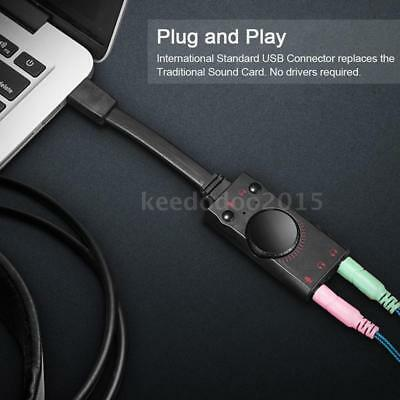 Kotion Each External USB 2.0 Stereo Sound Card Adapter Audio Cable for PC Laptop
