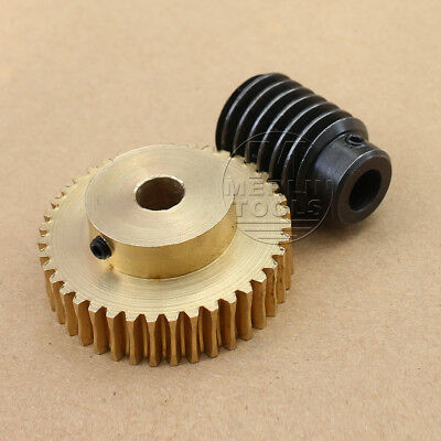 1 Modulus 20 25 30 40-60 Teeth Worm / Gear  For Shaft Drive Gearbox Set - Select