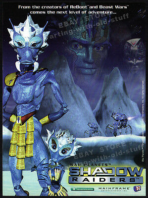 WAR PLANETS: SHADOW RAIDERS__Original 1998 Trade Print AD_TV promo__TRENDMASTERS