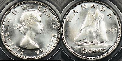 Canada 1957 10 Cent 10c KM #51 PCGS MS64 Choice Uncirculated
