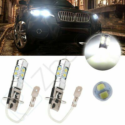 2x High Power 30W H3 10SMD CREE LED White Car HID Fog Driving DRL Light Lamp