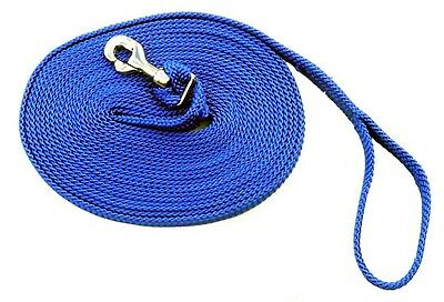 Horse Braided Lunge Lead 8.5 Metres With Hand Loop & Snap~Various Colours