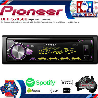 Pioneer DEH-S2050UB Iphone Ipod Android Car Audio Usb Player Mixtrax DEHS2050UB