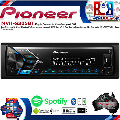 Pioneer MVH-S305BT Aux Usb Iphone Android Bluetooth Car Stereo No Cd MVHS305BT