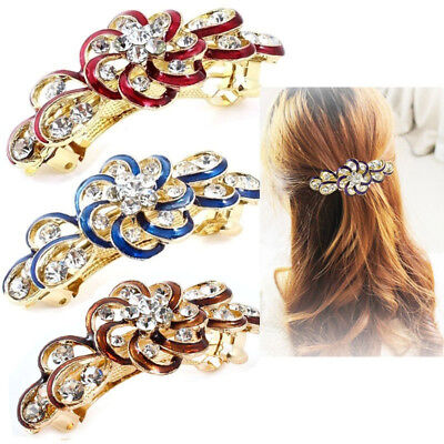 Fancy Women Hair Clip Flower Crystal Rhinestone Barrette Hairpin Headband Chic