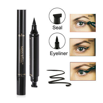 Winged Eyeliner Stamp Waterproof Makeup Eye Liner Pencil Black Liquid Beauty