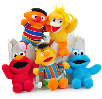 "5 Styles New Sesame Street Elmo Cookie Monster Big Bird Plush Dolls Toys 5""/13cm"