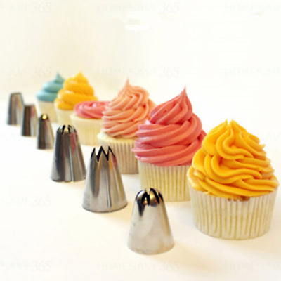 6 pcs Icing Nozzles Piping bag Pastry Tips Cake Decoration Tool Set
