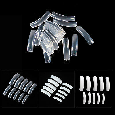 500 PCS Clear White Natural Half False Salon Nail Tips Acrylic Gel Nail Art Tool