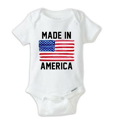 Made In AMERICA Baby Bodysuit, Unisex Labor Day Shirt, Made in USA Girl or Boy