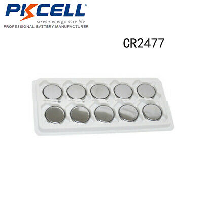 10x PKCELL CR2477 2477 DL2477 LM2477 3V Lithium Button Coin Cell Battery EXP2022