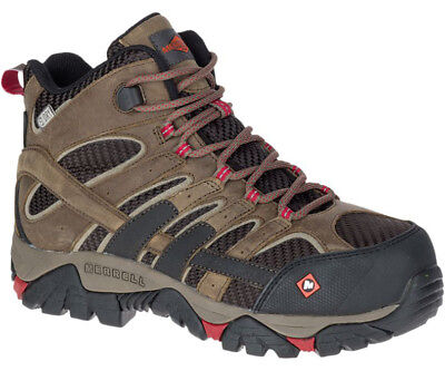 Merrell Women's J15878 Moab Mid EH Waterproof  Composite Toe Safety Work Boots