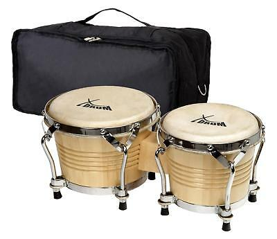 Set Bongos Instrument Percussion Batterie De Main Tambour Poche Professionnel