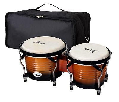 Set Bongos Instrument Percussion Batterie De Main Poche Sunburst Vintage Pro