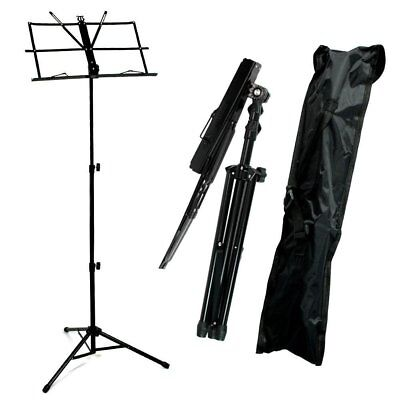 Metal Adjustable Sheet Music Stand Holder Folding Foldable with Carry Case Bag Y